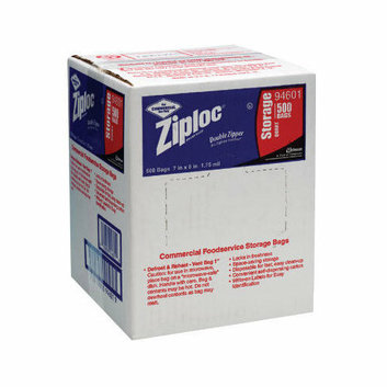 ZIPLOC 7'' x 8'' Double Zipper Food Bags in Clear