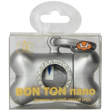 Petego Bon Ton Nano Luxury Bag Dog Waste Dispenser, Silver