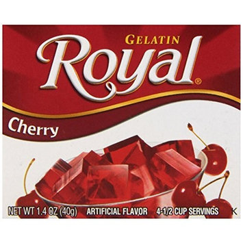 Royal Gelatin, Cherry, 1.4-Ounce (Pack of 12)