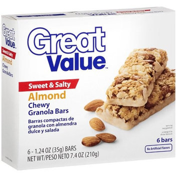 Great Value Sweet & Salty Granola Bars Almond, 6 ct