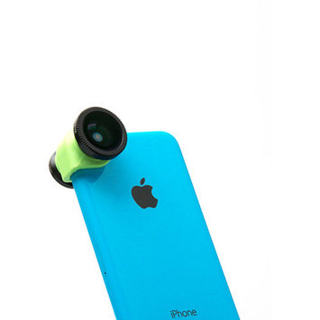olloclip 3-in-1 for Apple iPhone 5C, Black/Green