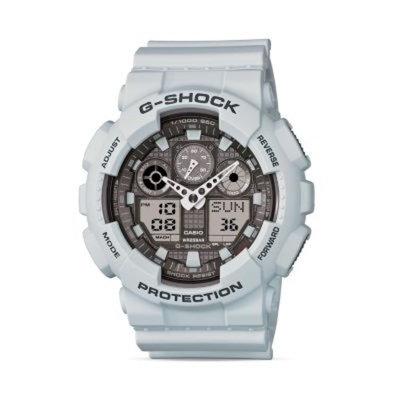 G Shock Analog-Digital Ice Gray Watch, 55mm