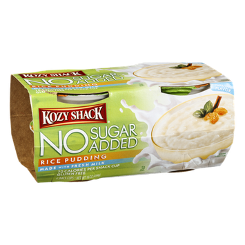 Kozy Shack No Sugar Added Pudding Cups Rice - 4 CT