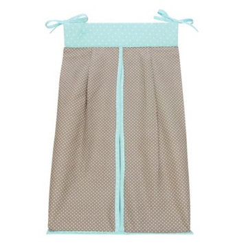 Trend Lab Cocoa Mint Diaper Stacker