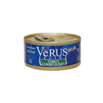 Verus Turkey, Chicken and Ocean Fish Canned Wet Cat Food (5.5 oz.) (Set of 24)