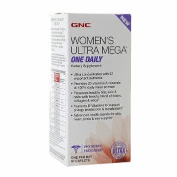 GNC Women's Ultra Mega One Daily Multivitamin, Caplets, 60 ea
