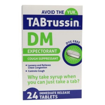 TABtussin DM Expectorant Cough Suppressant Immediate Release Tablets, 24 ea