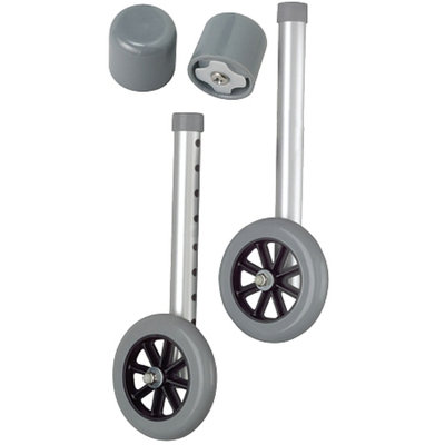 Medline 5-inch Walker Wheels with Glide Caps
