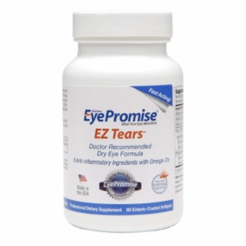EyePromise EZ Tears Doctor Recommended Dry Eye Formula, Softgels, 60 ea