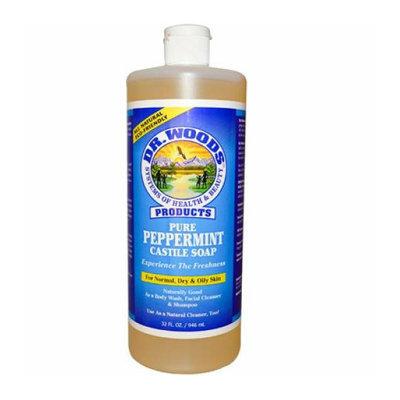 Dr. Woods Pure Castile Soap Peppermint 32 fl oz