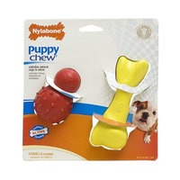 Nylabone Just for Puppies Small Vanilla Scented puppy dog Rubber Bone Teething chew toy