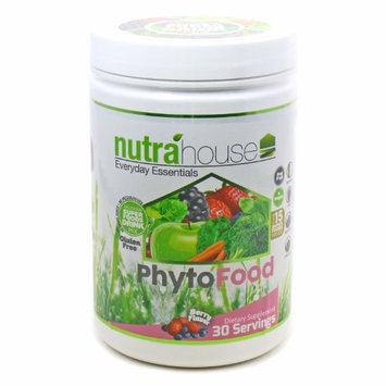 Nutrahouse Vita Greens SuperFood Powder Drink Mix with Chia Seeds and over 15 Super Foods. Delicious Berry Flavor an
