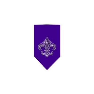 Ahi Fleur De Lis Rhinestone Bandana Purple Large