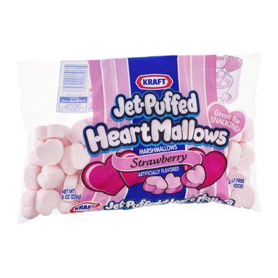Kraft Jet -Puffed HeartMallows Marshmallows Strawberry