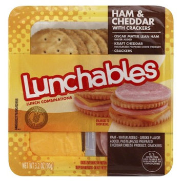 Oscar Mayer Lunchables Ham & Cheddar with Crackers 3.2 oz