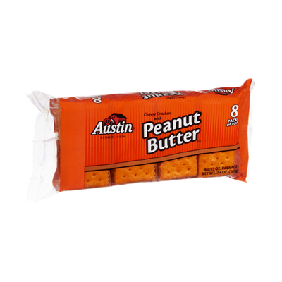 Austin Cheese Crackers with Peanut Butter- 8 PK