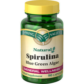Spring Valley : 90 Capsules Spirulina Blue Green Algae Herbal Supplement
