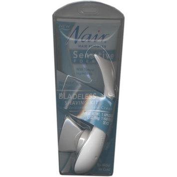 Nair Sensitive Formula Bladeless Shaving Kit with Natural Ingredients