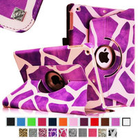 Fintie Rotating Stand Case Cover for iPad Air / iPad 5 (5th Generation), Giraffe Purple