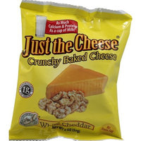 Just The Cheese Crunchy Baked Cheese White Cheddar -- 2 oz