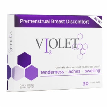 Violet Premenstrual Breast Discomfort Daily Iodine Supplement, Tablets, 30 ea