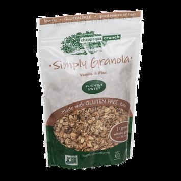 Chappaqua Crunch Simply Granola Vanilla & Flax