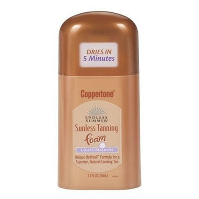 Coppertone Endless Summer Sunless Tanning Foam, Light/Medium - 3.7 fl oz