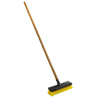 Quickie Brooms & Mops Professional 12 in. Wide Heavy Duty Deck Brush (6 Pack) 266