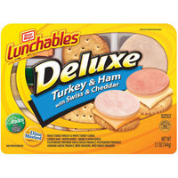 Lunchables Deluxe Turkey & Ham with Swiss & Cheddar
