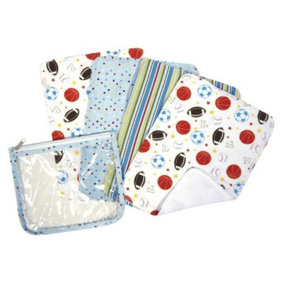 Trend Lab 5-Piece Baby Burp Cloth and Pouch Set - Little MVP by Lab