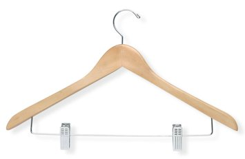 Honey Can Do Maple Basic Suit Hanger With Clips