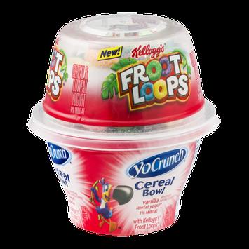 YoCrunch Cereal Bowl Vanilla Lowfat Yogurt with Kellogg's Froot Loops