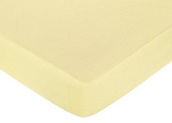 Jojo Designs, Llc. Sweet JoJo Designs Leap Frog Solid Yellow Fitted Crib Sheet