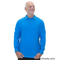Silvert's Silverts 507810102 Disability Clothing - Adaptive Polo Shirt Top for Mens Cobalt - 3XL