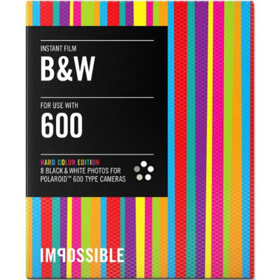 Impossible PRD3320 Black & White Instant Film (Hardcolor Edition) for Polaroid 600-Type Cameras