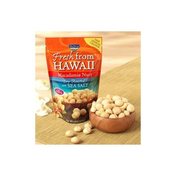 MacFarms Macadamia Nuts, DRY ROASTED with Sea Salt, Large 12-Ounce (Resealable Bag)