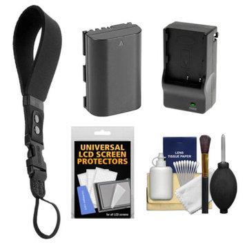 OP/Tech Op/Tech USA Neoprene DSLR Camera Wrist Strap (Black) with LP-E6 Battery & Charger + Accessory Kit for Canon EOS 60D, 6D, 7D, 5D Mark II III