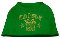 Ahi Golden Christmas Present Dog Shirt Emerald Green Lg (14)