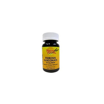 Ferrous Gluconate 28 Mg Iron Support Tablets, by Natural Wealth - 100 Tablets
