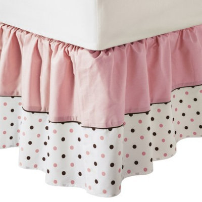 TL Care Fashion Fitted Crib Sheet - Pink Dots