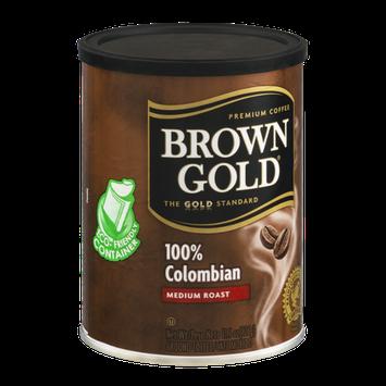 Brown Gold 100% Colombian Medium Roast Ground Coffee