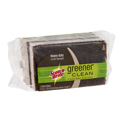 Scotch-Brite Greener Cleaner Heavy Duty Scrub Sponges - 3 CT
