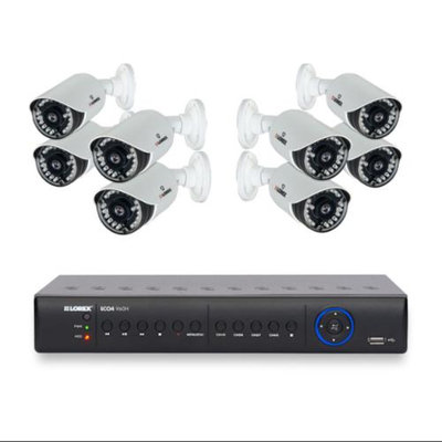 Lorex LH1581TC8 8 Camera Security Camera System with 1TB DVR and Stratus Cloud Connection