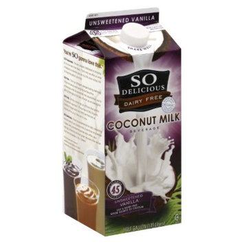Gale Hayman So Delicious Unsweetened Vanilla Milk .5 gal