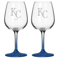 Boelter Brands MLB Royals Set of 2 Wine Glass - 12oz