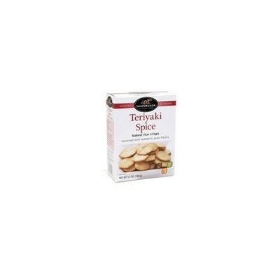 Snapdragon Baked Rice Crisps, Teriyaki Spice, 3.5-Ounce (Pack of 6)