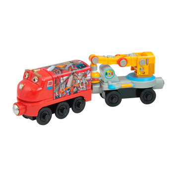 Learning Curve International, Inc. Chuggington Wooden Railway Magnetic Wilson with Crane Car