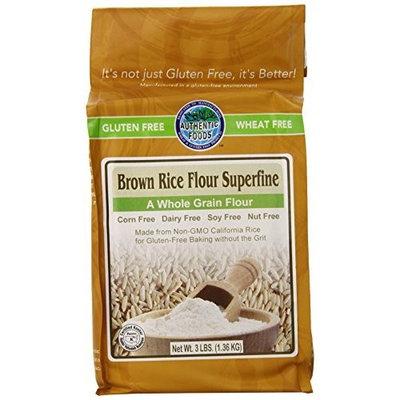 Authentic Foods Gluten Free Brown Rice Flour Superfine -- 3 lbs