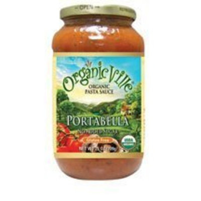 Organicville Organic Pasta Sauce, Portabella Mushroom 25 oz. (Pack of 12)