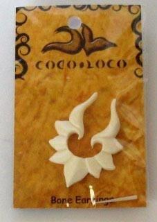 Bone White Post Earring Large Coco Loco 1 Earring